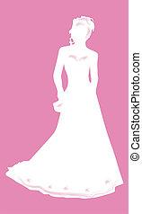 sposa, silhouette