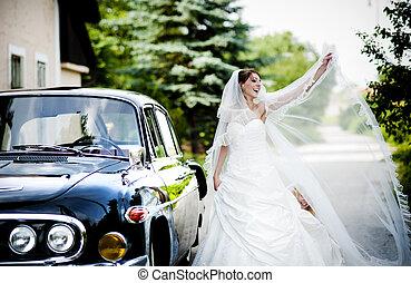 sposa, sposo, Automobile