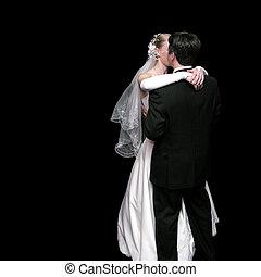 sposa, sposo, ballo