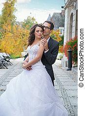 sposo, sposa, bello, lei, aluring