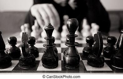 spostare, scacchi