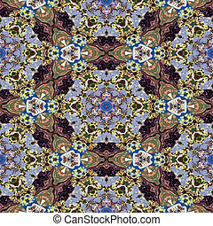 Spot kaleidoscopic seamless generated hires texture