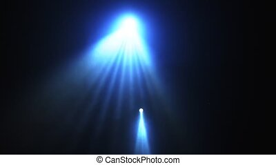 Spot light for disco or concert shinning straight towards ...