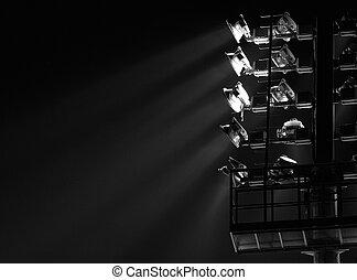 spot-light, stadio