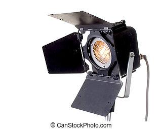 spot light - the black professinal spot light source on...