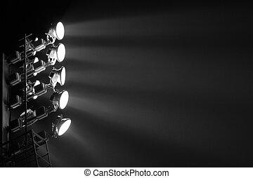spot-light, torre, estádio