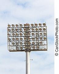 spot-light, tour, stade