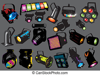 Vector light set, image is part of my music collection.