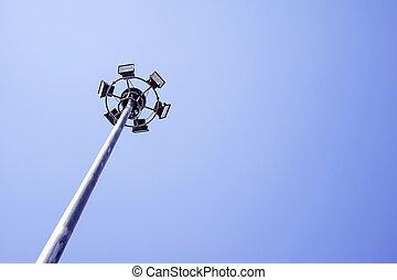 Spot light with blue sky