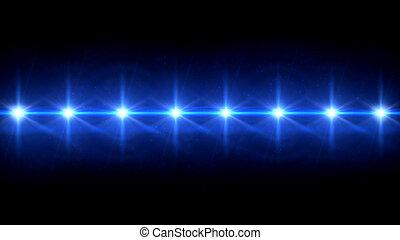 spot stars lens flare blue