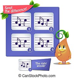 spot the difference  musical notes