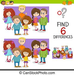 spot the differences game with kids