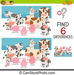 spot the differences with animals