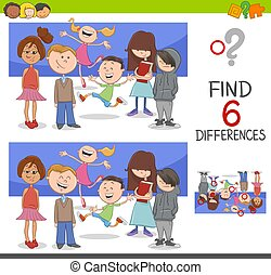 spot the differences with children