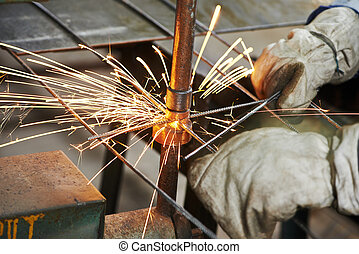 spot welding - Spot welding machine. reinforcement...