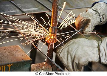 spot welding - Spot welding machine. reinforcement...