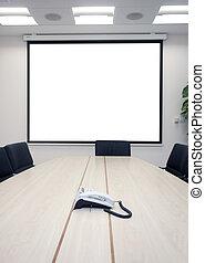 spotkanie, biuro, handlowy
