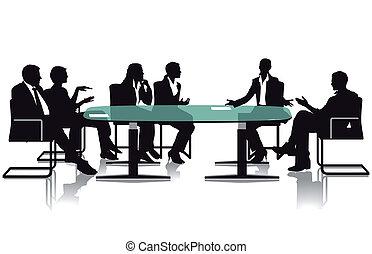 spotkanie, i, debata