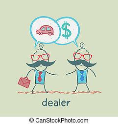 spotkanie, kupcy, handlowy