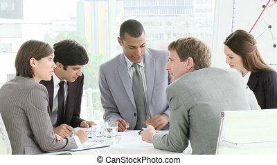 spotkanie, multi-kulturalny, handlowy