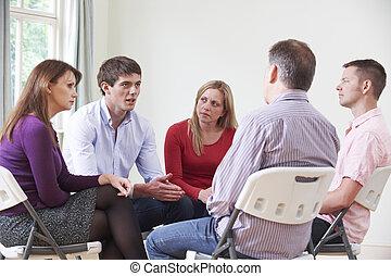 spotkanie, od, poparcie grupa