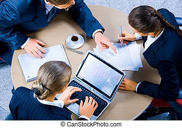 spotkanie, pracujący