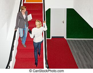 spotkanie, schody