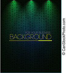 Spotlight background green