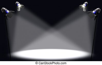 Concept of some important thing being illuminated by the light. You can place any thing in the light