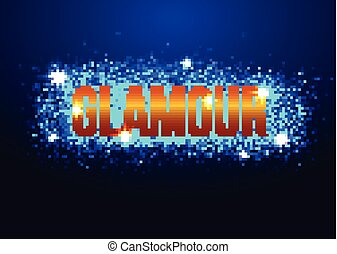 Spotlight effect scene background. Background in show. Abstract light background. Empty space. Vector interior shined with projector. Blue Spotlights on stage with smoke and light. Vector Light Effects.