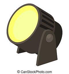 Spotlight icon, cartoon style