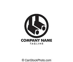 Spotlight icon vector logo illustration
