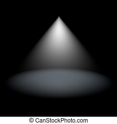 Spotlight in darkness