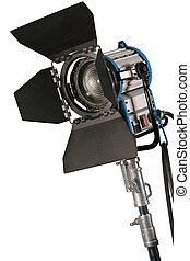 Spotlight isolated - Cinematograph spotlight detail isolated...