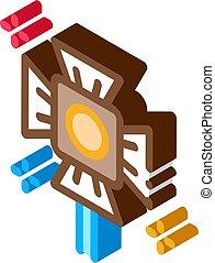 Spotlight Lamp Isometric Icon Vector Illustration