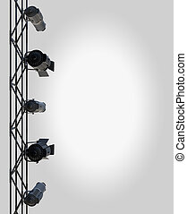 Spotlight Layout - vertically hung spotlights lighting the...