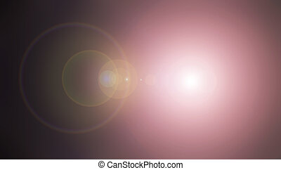 Spotlight lens flare background