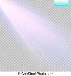 spotlight., lumière, vecteur, effect.