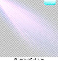 spotlight., luz, vetorial, effect.