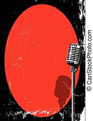 Spotlight On A Microphone