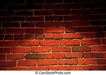 Spotlight on Brick Wall