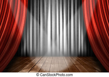Spotlight on Stage in a Theater House Indoors