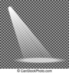 Spotlight on transparent background. Eps10. Vector illustration