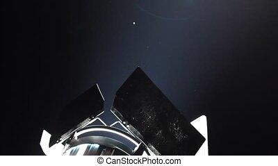 spotlight reflector at night