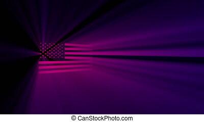 Spotlight shines flag USA
