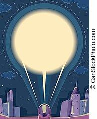 Spotlight Sky Night City Board