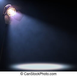 Spotlight - The lights illuminate the area where someone or...