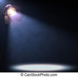 Spotlight - The lights illuminate the area where someone or ...