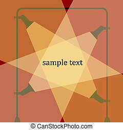 spotlight with sample text space, vector art illustration