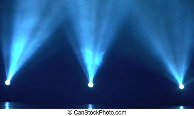Spotlight with three Laser Blue rays